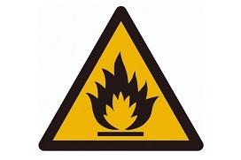 Waarschuwingssymbool voor brand