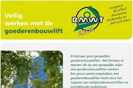 Voorkant brochure 'Veilig werken met de goederenbouwlift'