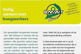 Voorblad brochure 'Veilig werken met hoogwerkers'