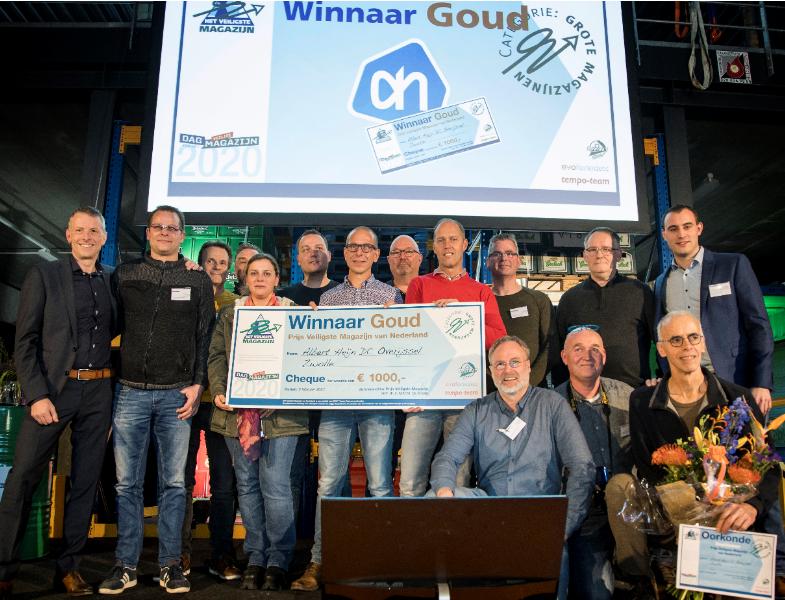 Albert Heijn DC Overijssel winnaar Prijs Veiligste Magazijn 2019 Goud