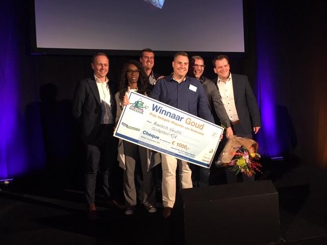 Bausch winnaar Prijs Veiligste Magazijn 2018 goud