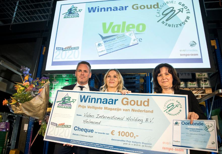 Valeo International Prijs Veiligste Magazijn 2019 goud