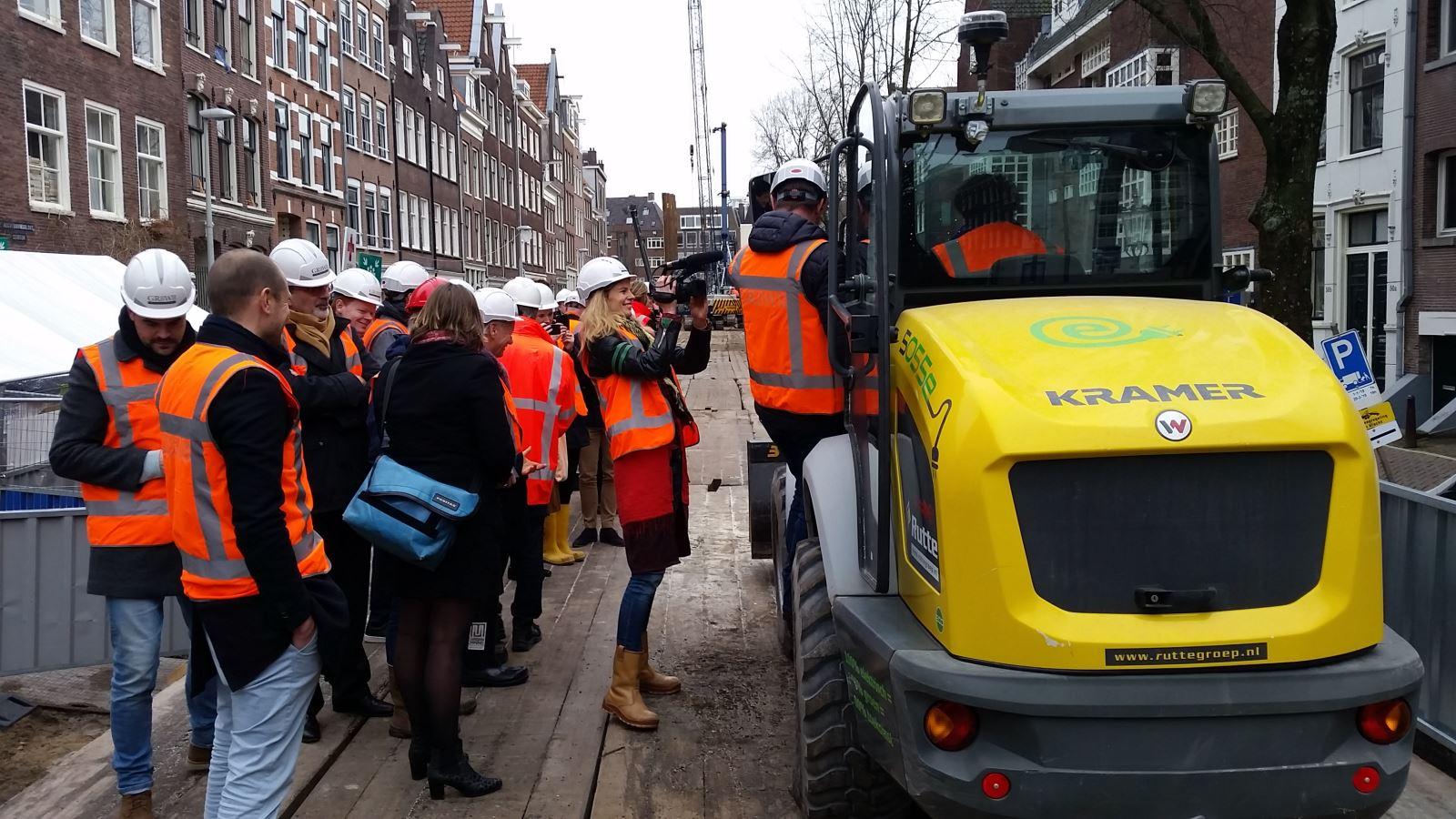 herstelwerkzaamheden kade Amsterdam Green Deal