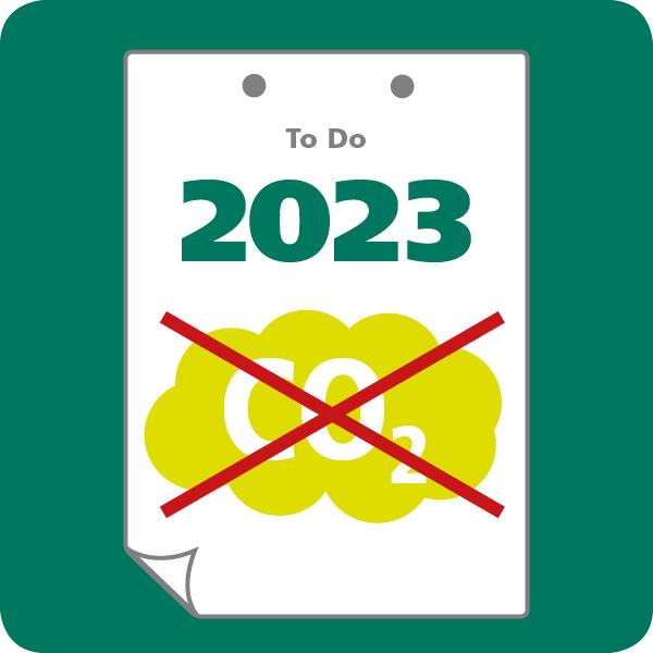 Geen CO2 in 2023 verduurzamen